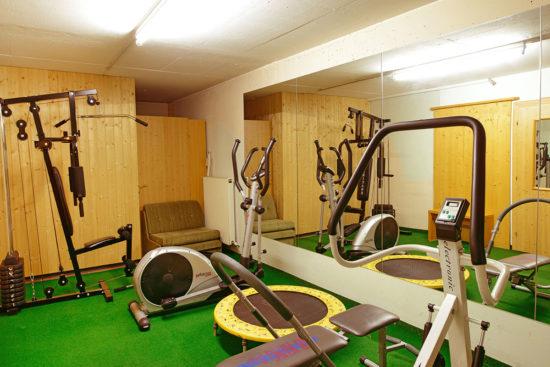 Fitnessraum im Hotel Garni Santa Barbara