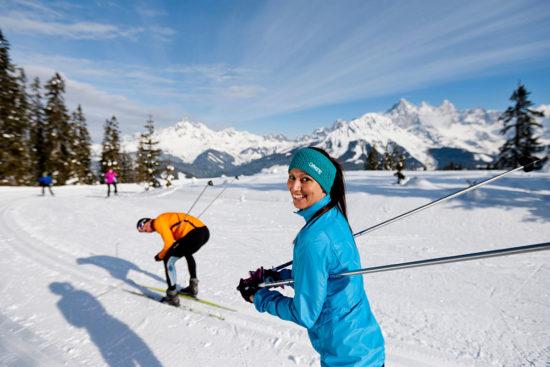 Langlaufen im Winterurlaub in der Salzburger Sportwelt