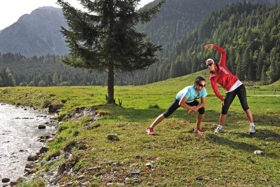 Laufen im Sommerurlaub in Flachau, Salzburger Land